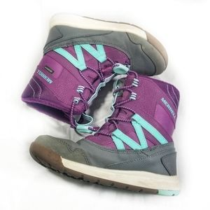 Kids Merrell Purple Snow Crush Waterproof Boots 13